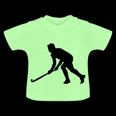 Hockey sur gazon Hockey Silhouette - T-shirt Bébé
