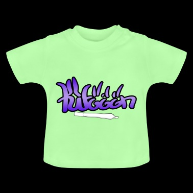 Kiffen font with joint - Baby T-Shirt