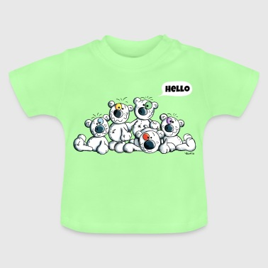 Hello Teddys - Polar Bear - Bears - Comic - Baby T-Shirt