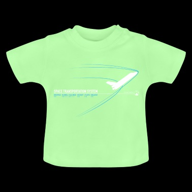 Space Shuttle (Blue print) - Baby T-Shirt
