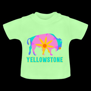 Yellowstone Bison Mandala Art Wildlife Recreation - Baby T-Shirt