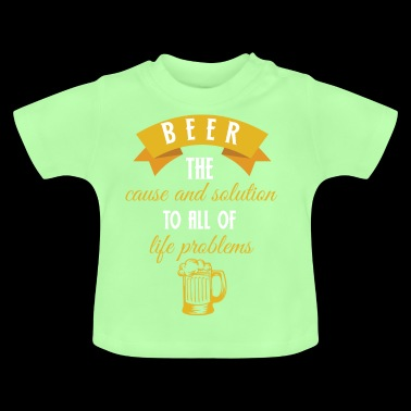 Beer - beers - beer drinker - beer glass - problem - Baby T-Shirt