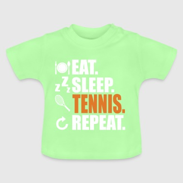 Tennis tennis court tennis player tennis ball - Baby T-Shirt