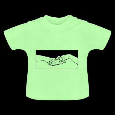 Share Pizza Michelangelo motif - Baby T-Shirt