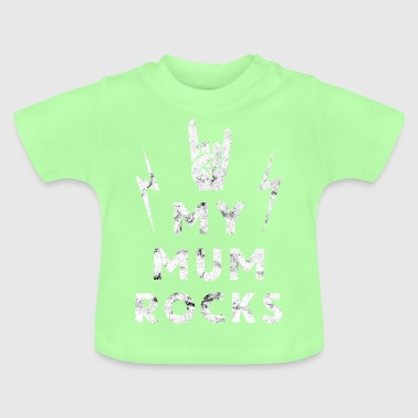 Mors dag Mama Rock Heavy Metal Gave - Baby T-shirt