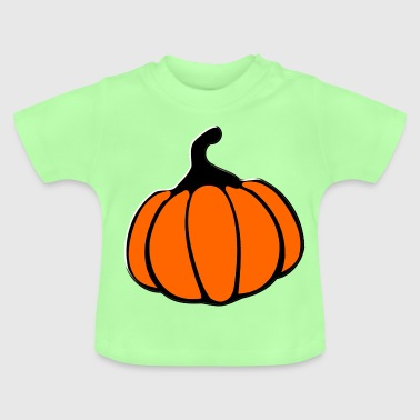 orange Halloween Pumpkin gif clipart - Baby T-Shirt