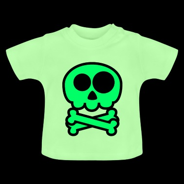 Green cute Skull Comic - Baby T-Shirt