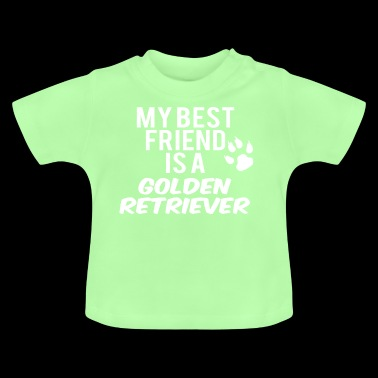 mijn vriend is een golden retriever - Baby T-shirt