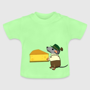 bavarian mouse with cheese - Baby T-shirt