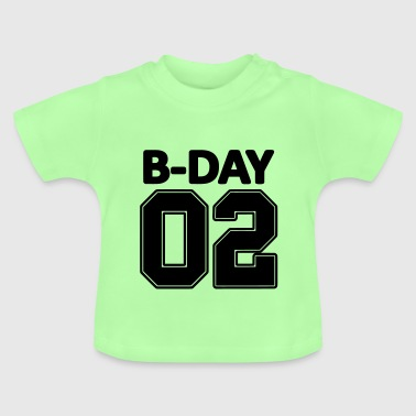 2nd birthday bday 02 number numbers number jersey - Baby T-Shirt