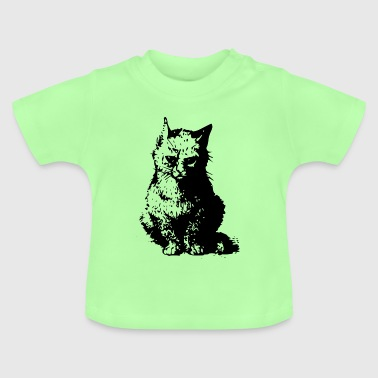 Cat drawing - Baby T-Shirt