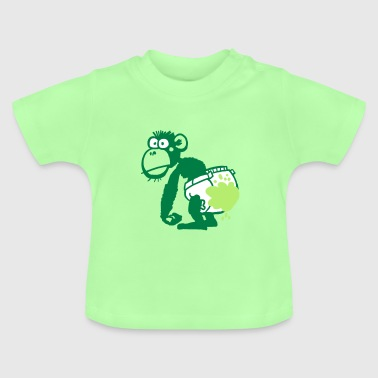 Chimp poops pants - Baby T-Shirt
