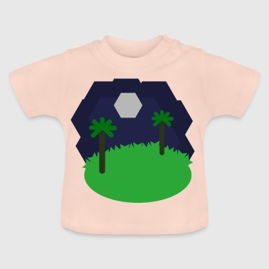 landschap Hexagonal - Baby T-shirt