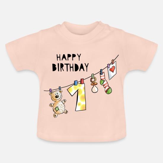 Joyeux Anniversaire Premier Anniversaire Bébé Doux T Shirt