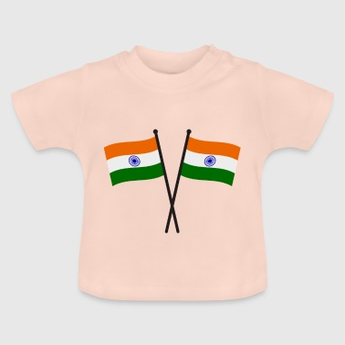 de vlag van india - Baby T-shirt