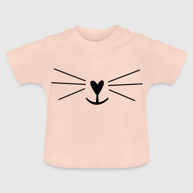 Whiskers nose rabbit cats - Baby T-Shirt