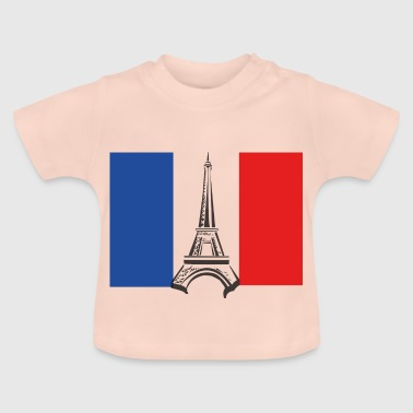 France with Eiffel Tower - Baby T-Shirt