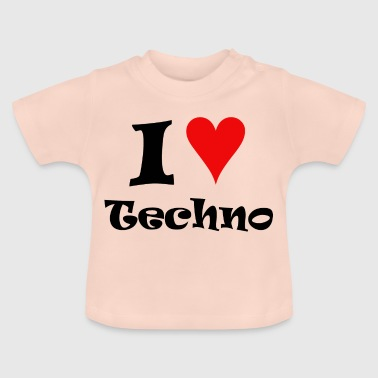 I Love Techno - Camiseta bebé