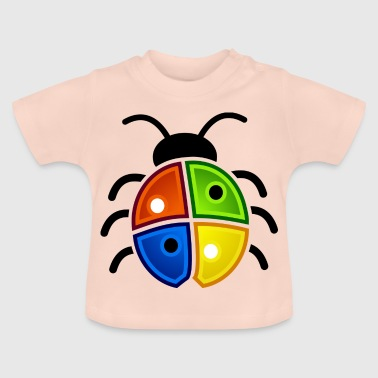 Windows Marienkäfer - Baby T-Shirt