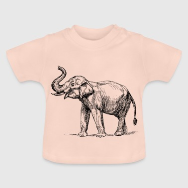 Sketch of elephant - Baby T-Shirt
