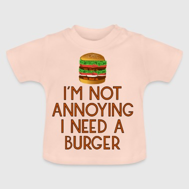 Beef burger fast food snack beef hamburger pommes15 - Baby T-Shirt