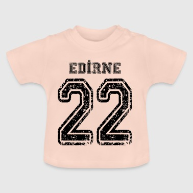 22 Edirne Turkish license plate as a gift - Baby T-Shirt