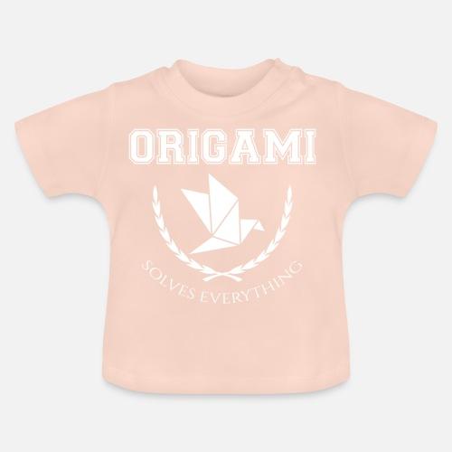 Origami Falten Faltkunst Geschenk Kranich Baby T Shirt