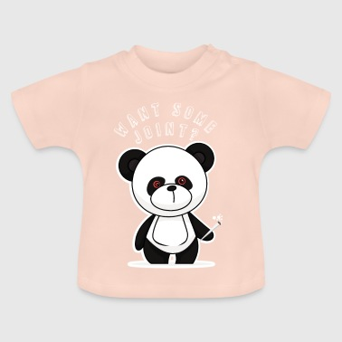 Want Some Joint? Funny panda animal gift - Baby T-Shirt