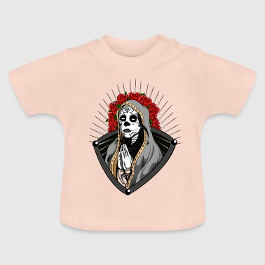 Santa Muerte Mexican Head Skull Horror Halloween - Baby T-Shirt