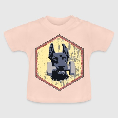 Doberman Pinscher Fitness Dumbbell - Baby T-Shirt