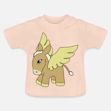 Donkey Cartoon Flying donkey cartoon - Baby T-Shirt