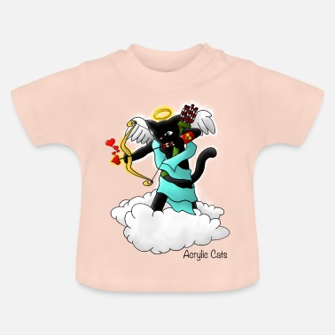 Cupid Valentijnsdag Black Cupid Cat - Baby T-shirt