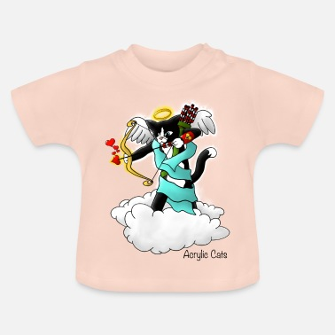Cupid Valentijnsdag Tuxedo Cupid Cat - Baby T-shirt