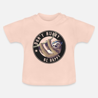 Faultier sloth Faultier chillen Schlaf Slow happy Humor fun - Baby T-Shirt