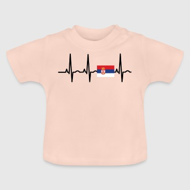 ECG heartbeat SERBIA png - Baby T-Shirt