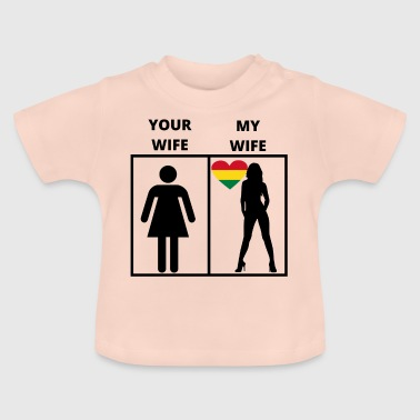 Bolivien geschenk my your wife - Baby T-Shirt