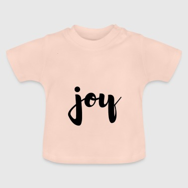 joie simple joie manuscrite - T-shirt Bébé