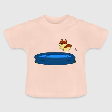 Dog in the pool - Baby T-Shirt