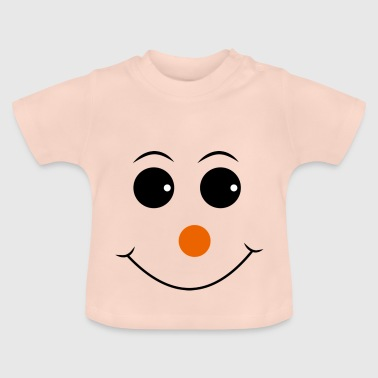 Smiley med röd näsa - Baby-T-shirt