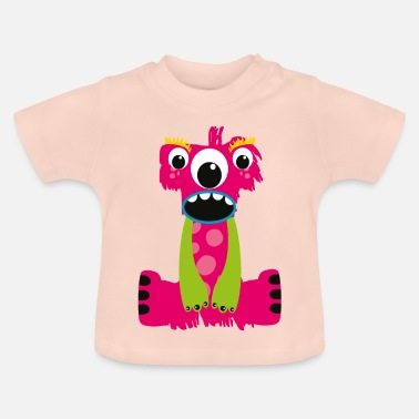 Monsters Letter Pink letters Monster I - Baby T-Shirt