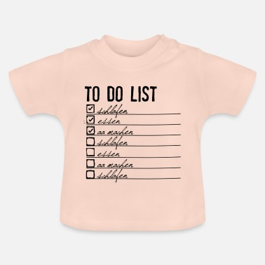 Liste À Barrer to-do-list bébé - T-shirt Bébé