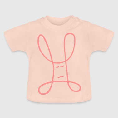 Bunny, child's drawing - Baby T-Shirt