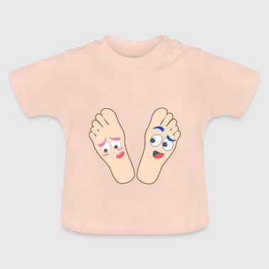 Kids shirt flirting feet shirt motif funny feet - Baby T-Shirt