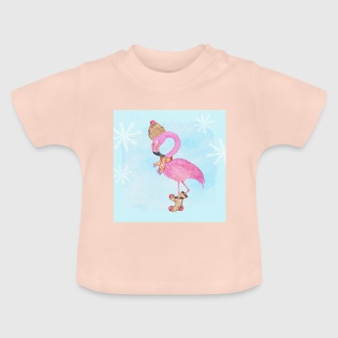 Flamingo in the frost - Baby T-Shirt