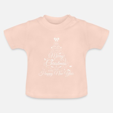 Happy New Year Vrolijk kerstfeest & Happy New Year Gifts voor vrienden - Baby T-shirt