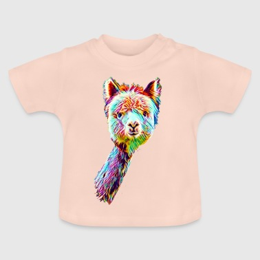 Psychedelic Lama - Baby-T-shirt