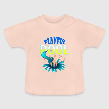 Badehose Coole Sprüche Playful POOL PARTY - Baby T-Shirt
