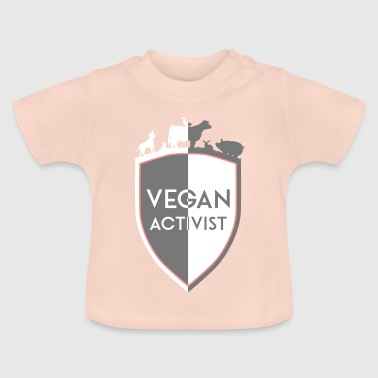 VEGAN ACTIVIST SHIELD DIVISION - Baby T-Shirt