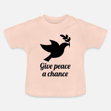 Recordhouder givepeaceachance blak - Baby T-shirt