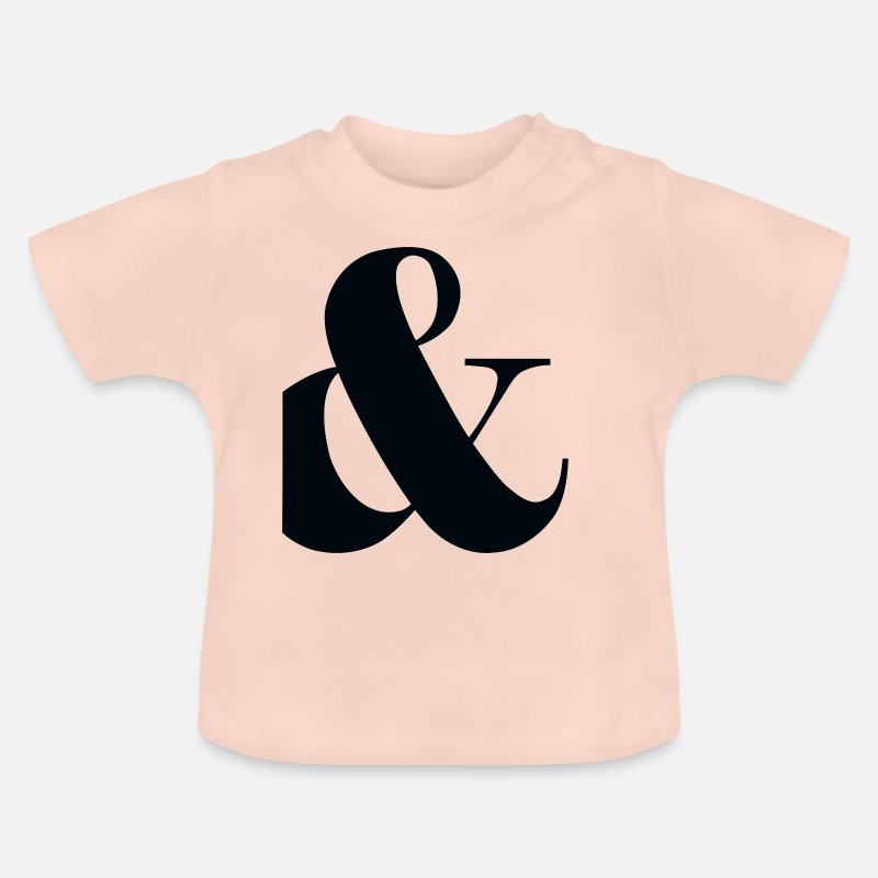With Baby Clothes - and, plus, punctuation, - Baby T-Shirt crystal pink